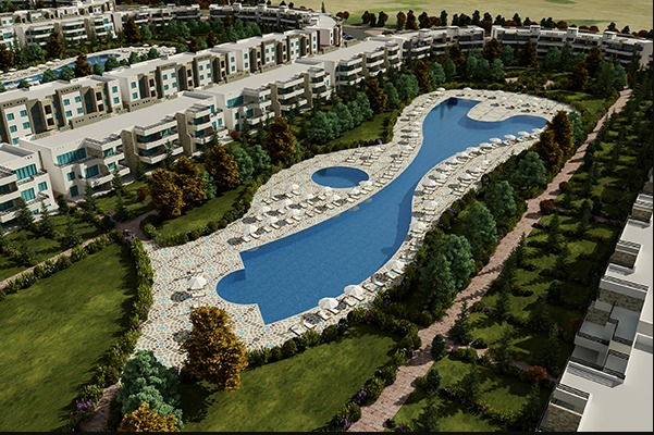 swimming pools and units in Blumar El Sokhna 1
