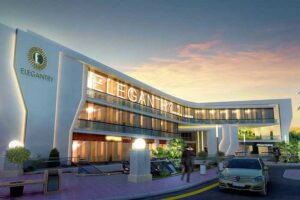 elegantry mall at Midnight view