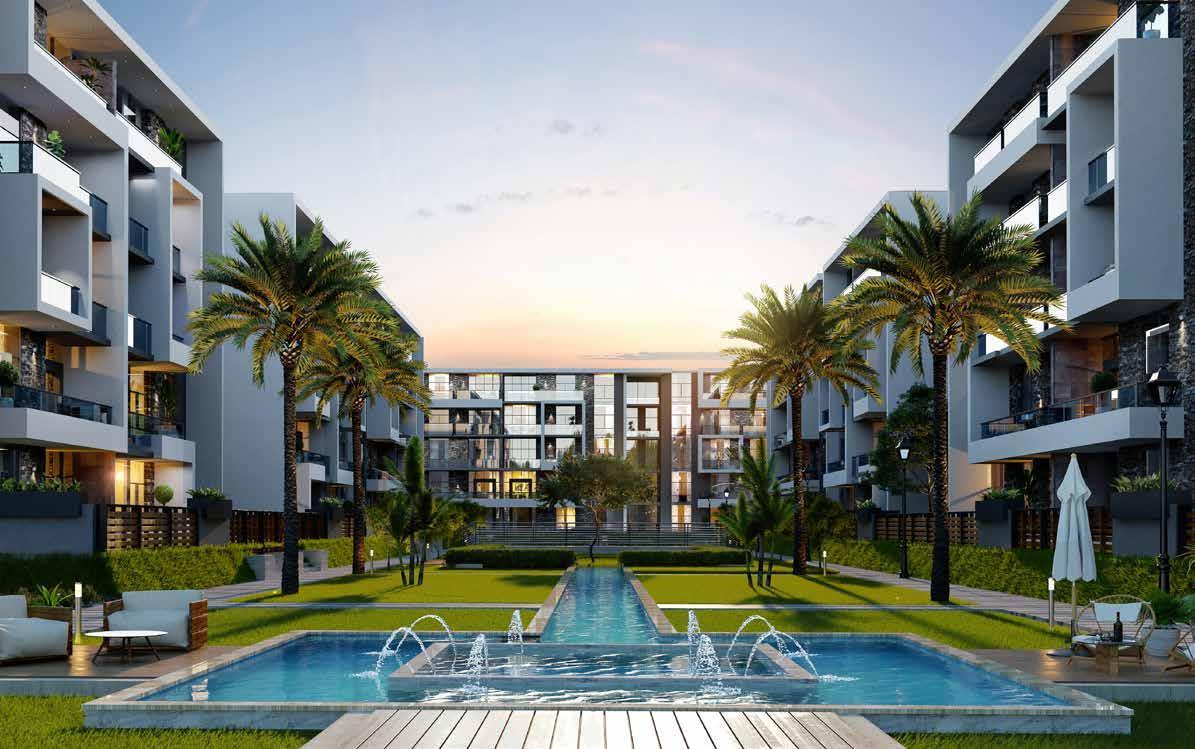 بالتقسيط على مدة تصل إلى 8 سنوات اشتري شقة في كمبوند الباتيو اورو بمساحة 171 متر
