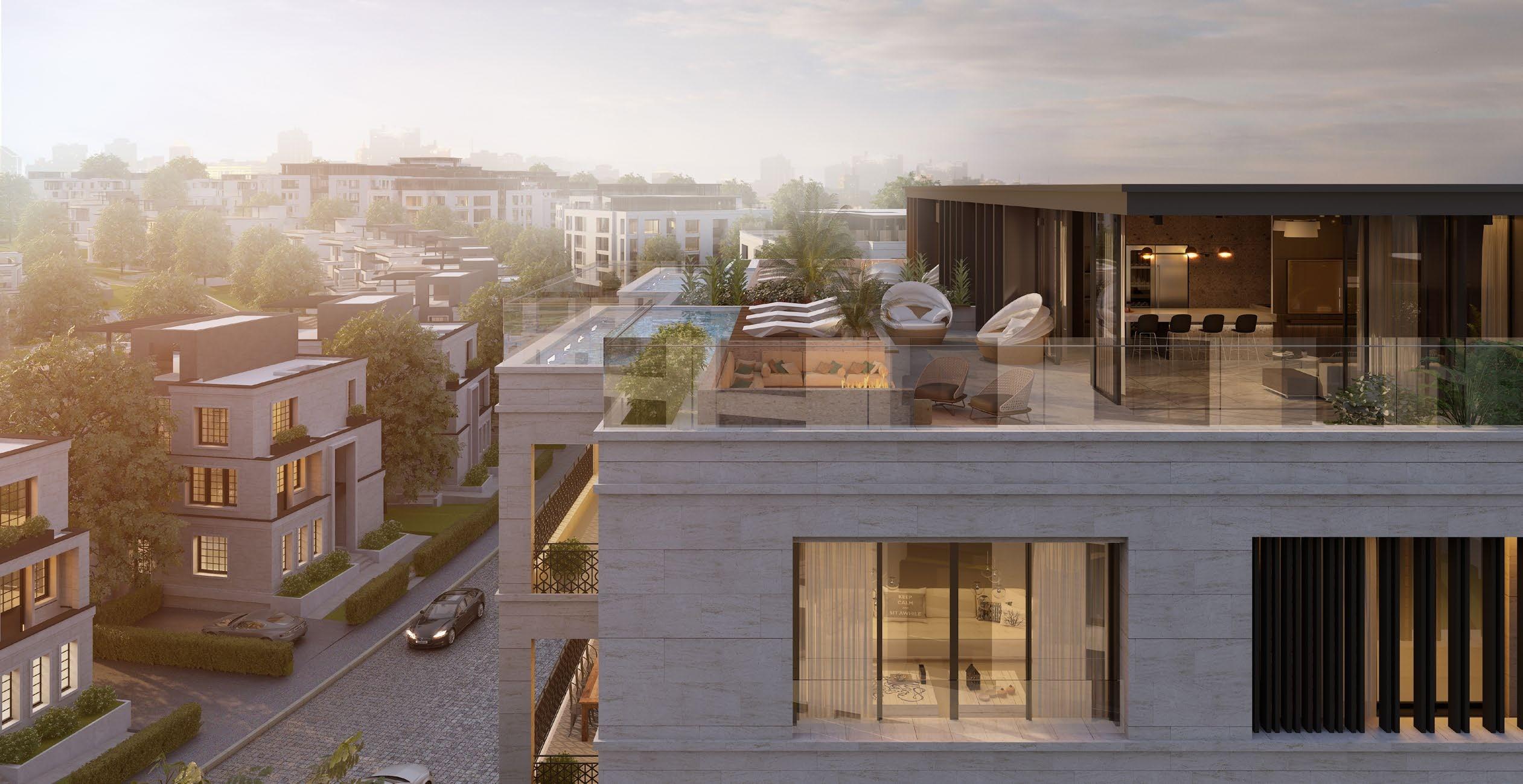 3 غرف نوم شقق للبيع في قطامية كريكس التجمع 255 متر