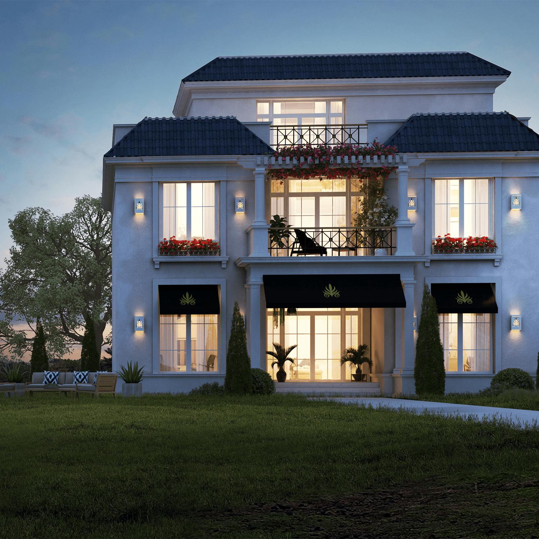بمساحة 290 متر بيوت وفلل للبيع في كمبوند ماونتن فيو 3
